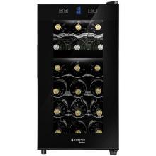 adega de vinho climatizada cadence 18 garrafas ade180 preto